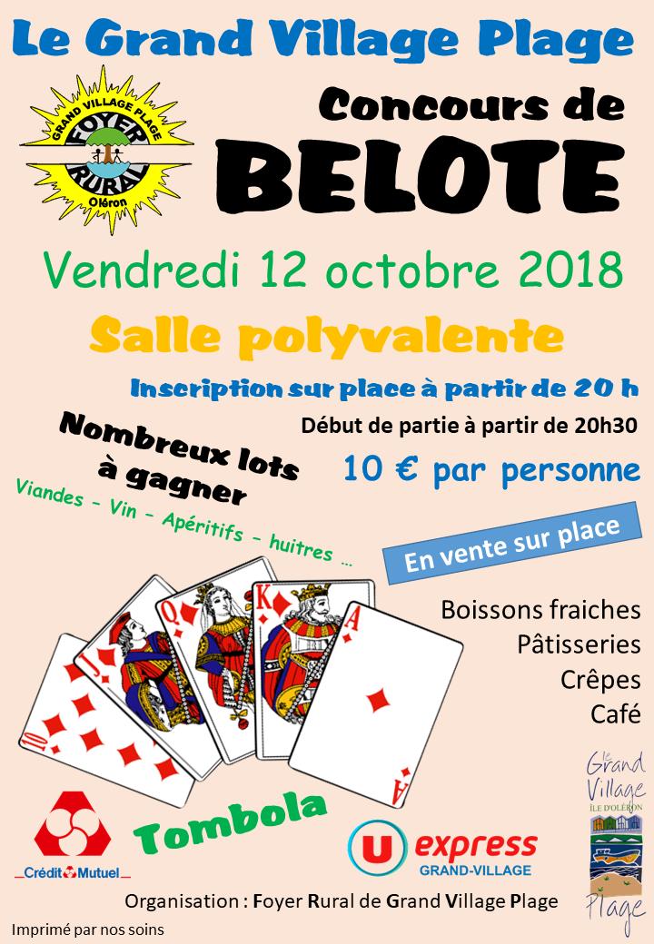 Affiche concours belote octobre 2018
