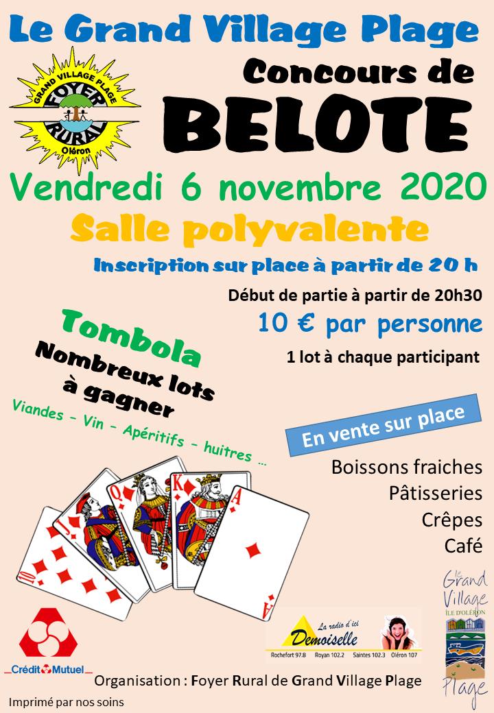 Concours belote 06 novembre