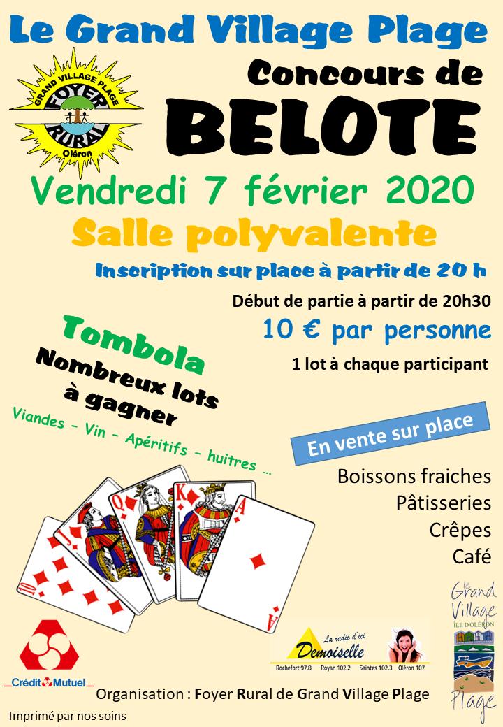 Concours belote 07 février