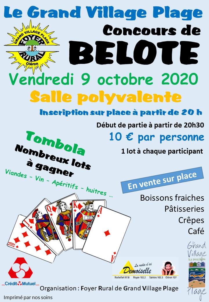 Concours belote 09 octobre