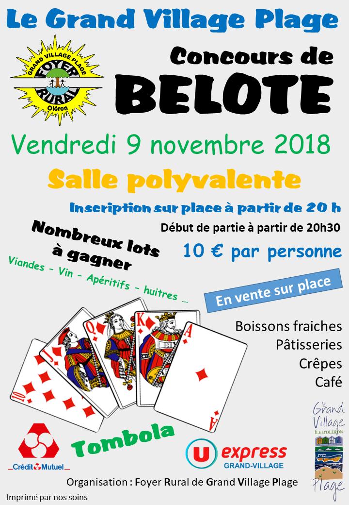 Affiche belote novembre 2018