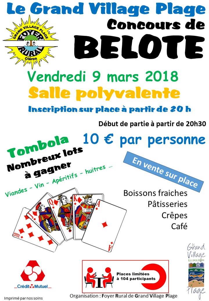 Affiche concours Belote 09032018