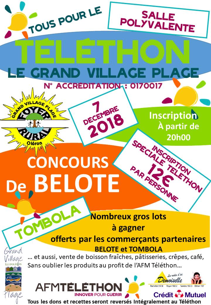 Affiche belote Téléthon 2018