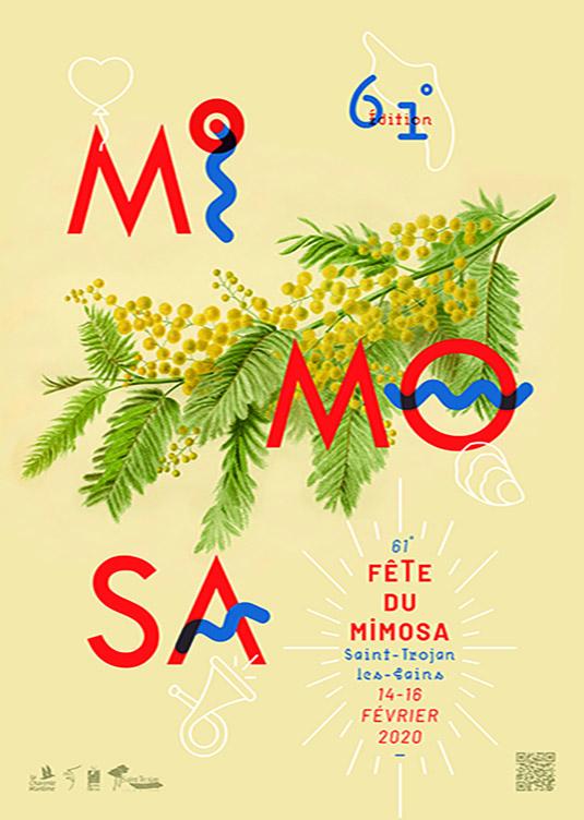 Affiche 2020 fêt du mimosa