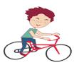 Vignette il fait du vélo
