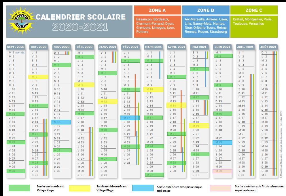 Calendrier marche 2020-2021