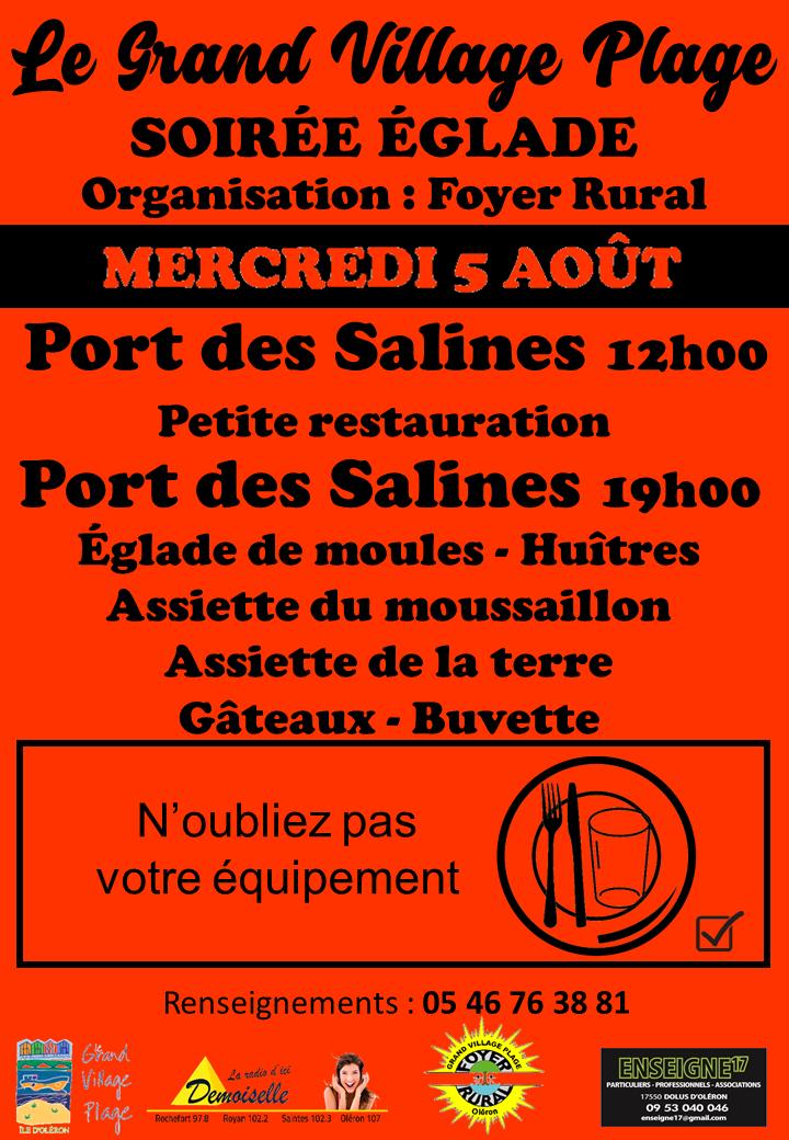 Affiche églade Port des Salines