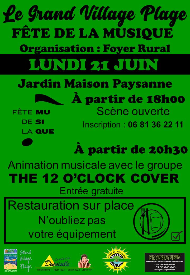 Affiche fête de la musique 2021