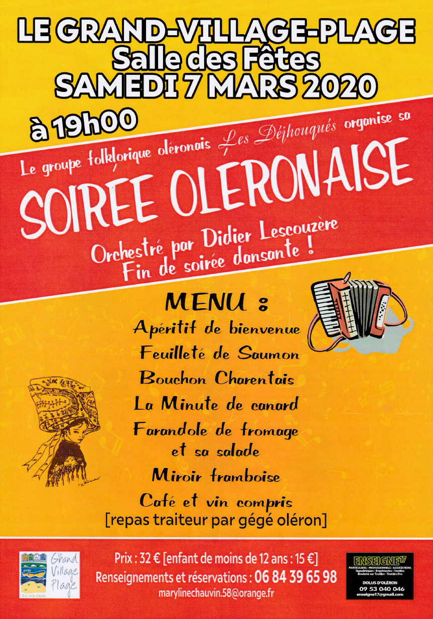Affiche repas Dejhouqués