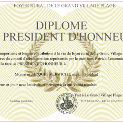 Diplome jacques