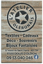 Image de pub l'atelier Oléronais