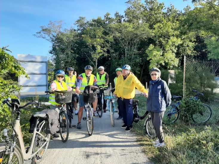 Première sortie de l'activité vélo détente